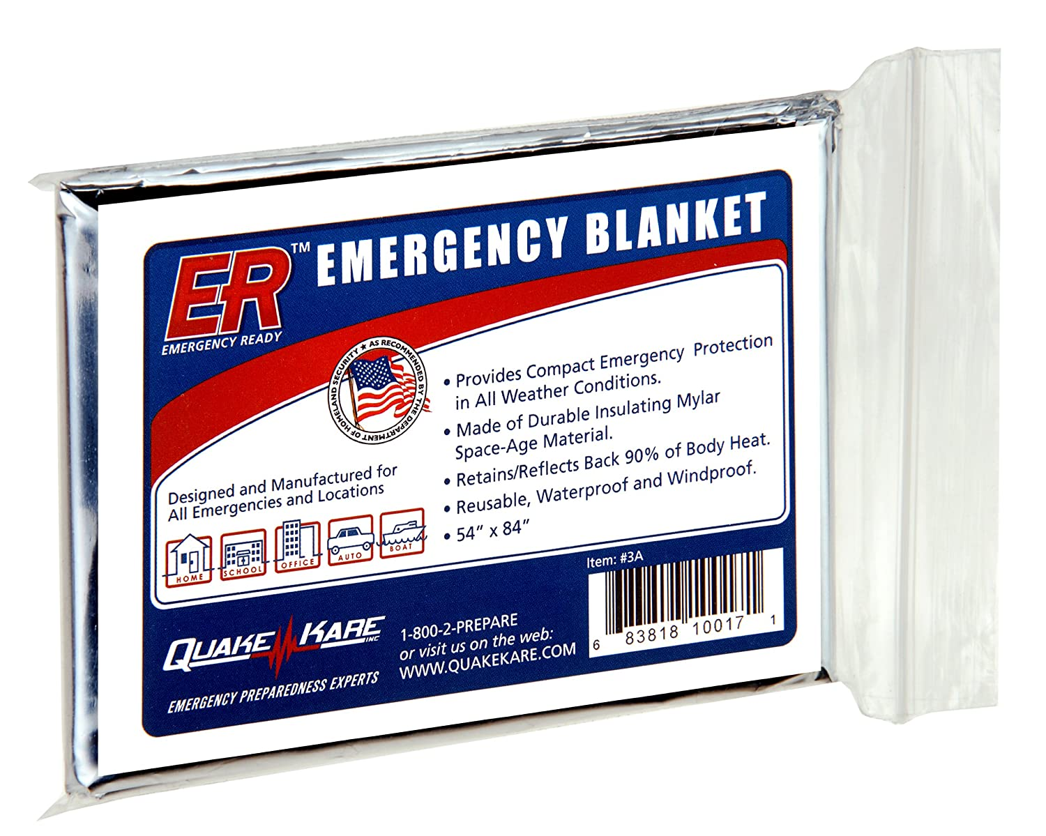 2ae22d8af7 Amazon.com   ER Emergency Ready 3A Thermal Mylar Blanket   Emergency  Camping Blankets   Garden   Outdoor