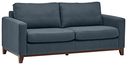 Rivet North End Exposed Wood Modern Sofa, 78u0026quot; ...