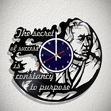 Amazoncom Wall Clock The Secret Of Success Is Constancy To Purpose