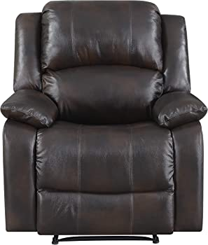 Home Meridian Fremont Top-Grain Leather Wall-Hugger Recliner