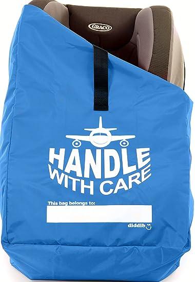 Best Car Seat Travel Bag Ballistic Nylon Padded Shoulder Strap Secure Double Lock