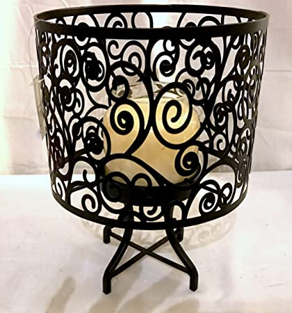 amazon com new yankee candle black scroll design lamp shade and