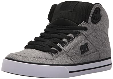 285dff3aed DC Men s Spartan HIGH WC TX SE Skate Shoe Black Heather Grey 8 ...