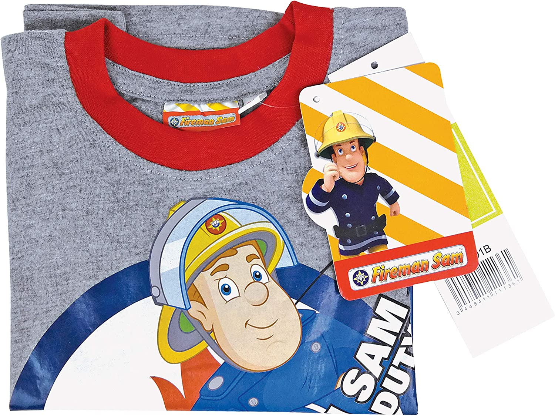 Fireman Sam Boys 100/% Cotton Long Sleeved T Shirt in 4 Colours