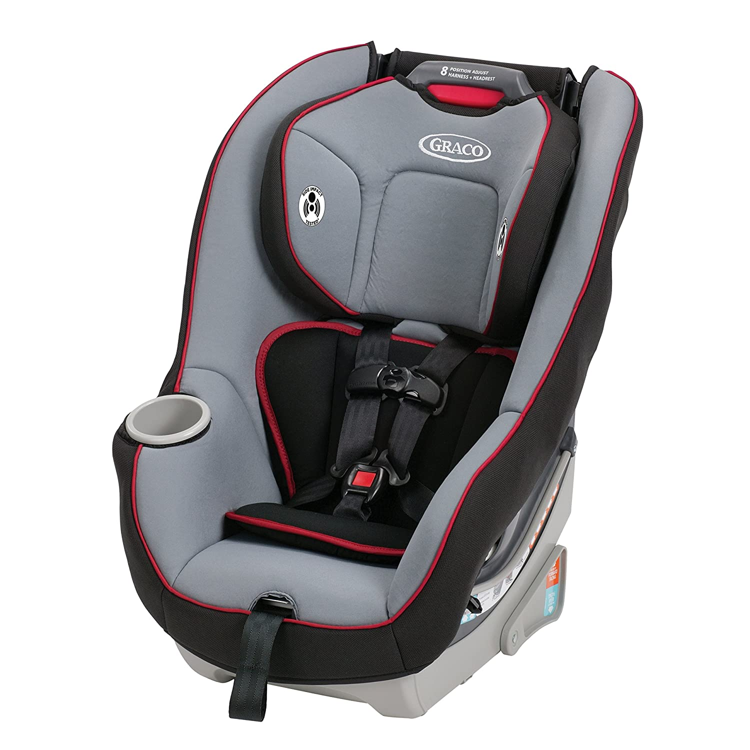 Amazon.com : Graco Contender 65 Convertible Car Seat, Chili Red, One