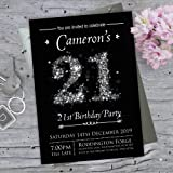 Birthday invitations male 21st birthday pack of 20 sheets amazon 21st birthday party invitations or personalise for any age 13th 16th 18th 21st 30th 40th filmwisefo Images