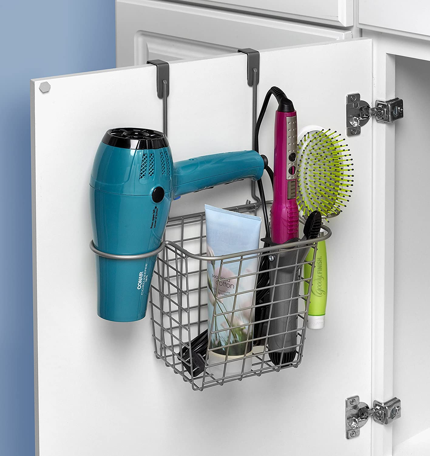 Amazon.com: Spectrum Diversified Grid Tall Hair Styling Station, Over The  Cabinet Door, Satin Nickel: Home U0026 Kitchen