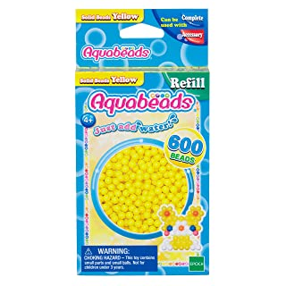 Aquabeads Solid Bead Refill Pack, Yellow