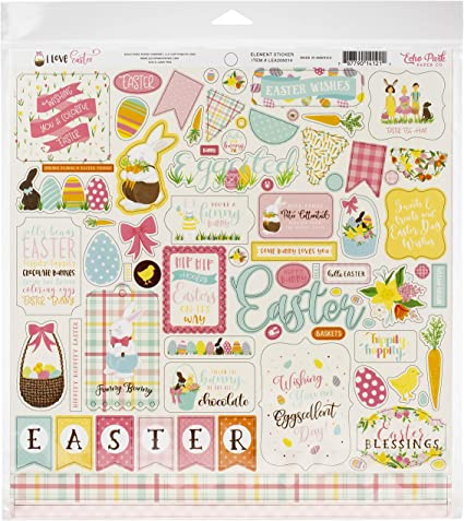 12-x-12-Inch Echo Park Paper Company Paper Welcome Easter Collection Kit