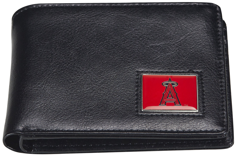 MLB Los Angeles Angels Men's Leather RFiD Safe Travel Wallet