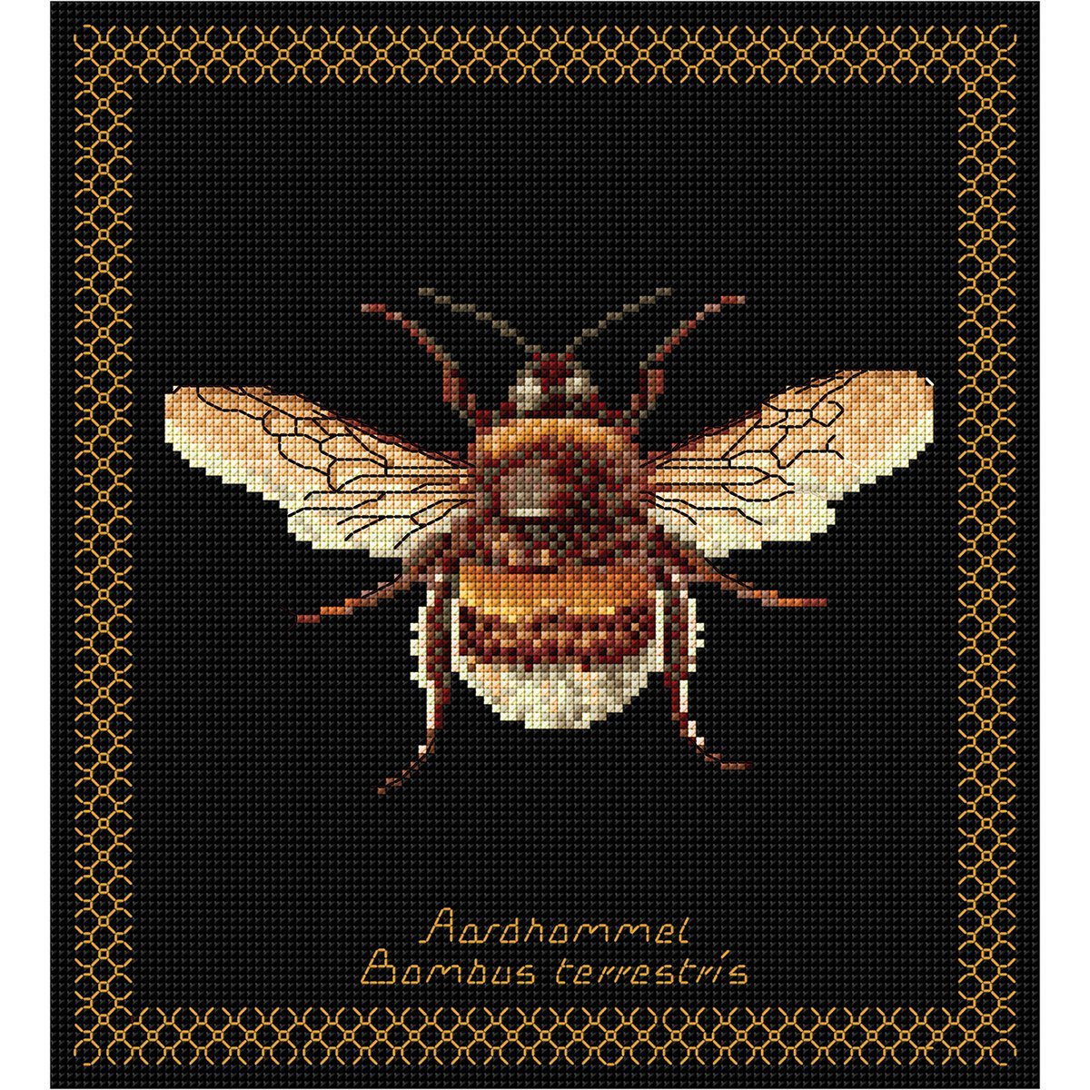 Thea Gouverneur 18 Count Bumble Bee on Aida Counted Cross Stitch Kit 8 x 8.25