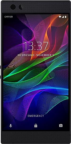 Amazon Com Razer Phone 1st Generation 120 Hz Ultra Motion Display 64gb Memory 8gb Ram Dual Camera Dual Front Facing Speakers Gaming Phone Black