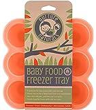 Vassoio In Silicone Per Alimenti Neonati Sicuro & Facile da Utilizzare! | Lo Stampo Per Alimenti Da Congelatore Con un Coperchio di Silicone con Chiusura a Clip | 2 Colori Disponibili | Senza BPA & Approvato dalla FDA