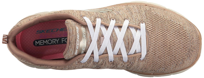 Skechers Women's Flex Appeal 2.0 Sneaker B01MRIGE2J 8 B(M) US|Taupe Natural