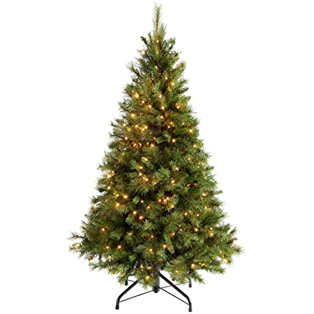 WeRChristmas Pre-Lit Victorian Pine Multi-Function Christmas Tree with 300  Warm White LED Lights, Green, 5 feet/1.5 m: Amazon.co.uk: Kitchen & Home - WeRChristmas Pre-Lit Victorian Pine Multi-Function Christmas Tree