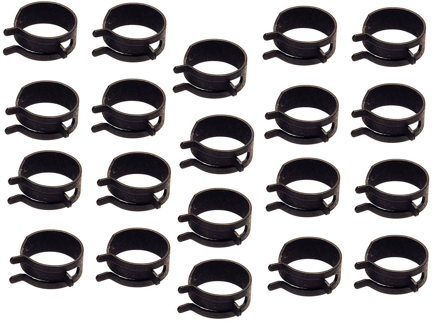 Inch Spring Action Hose Clamps Gray 20 Pack 5//8 O.D