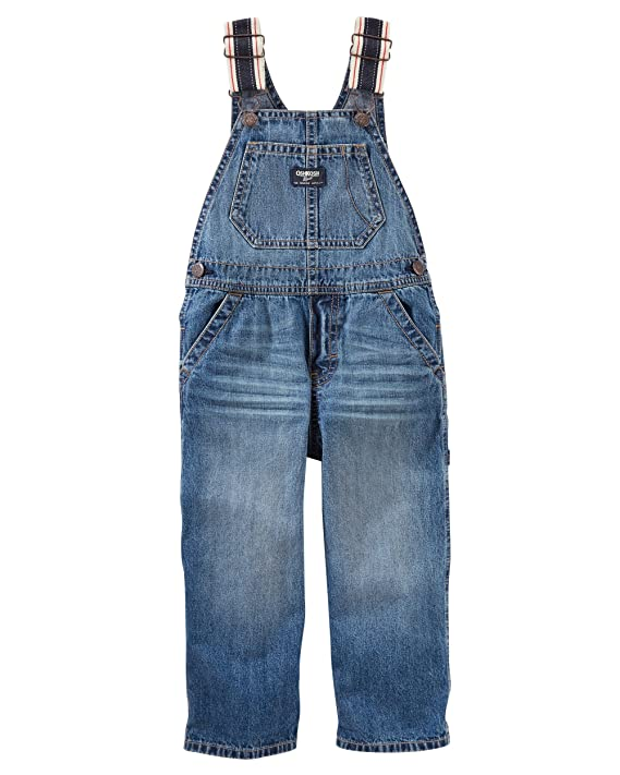 OshKosh B'Gosh Baby Boys' Toddler World's Best Overalls, Ocean wash, 3T best boys' overalls