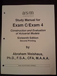 asm study manual for exam c exam 4 construction and evaluation of rh amazon com Ritter Exam Table Manual Ritter Exam Table Manual