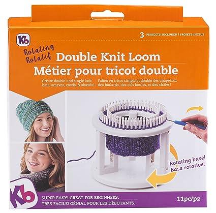 535ca4c3b0b Amazon.com  Authentic Knitting Board Rotating Double Knit Loom Off ...