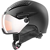 uvex hlmt 600 visor, Skihelm Unisex-Volwassene, black mat, 53-55 cm