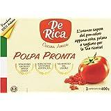 De Rica - Polpa Di Pomodoro, Polpa Pronta - 2 Confezioni da 400 G (2x400)