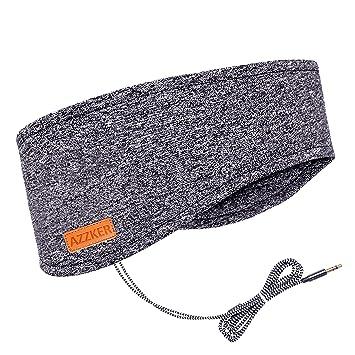 Azzker - Máscara para Dormir con Altavoces estéreo HD ultrafinos y Bolsa de Viaje Insomnia,