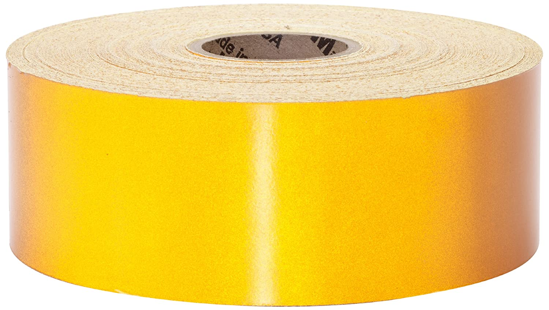 Mutual 17786 Engineering Grade Retro Reflective Adhesive Tape, 50 yds Length x 2' Width, Yellow 50 yds Length x 2 Width Mutual Industries Inc. 17786-41-2000