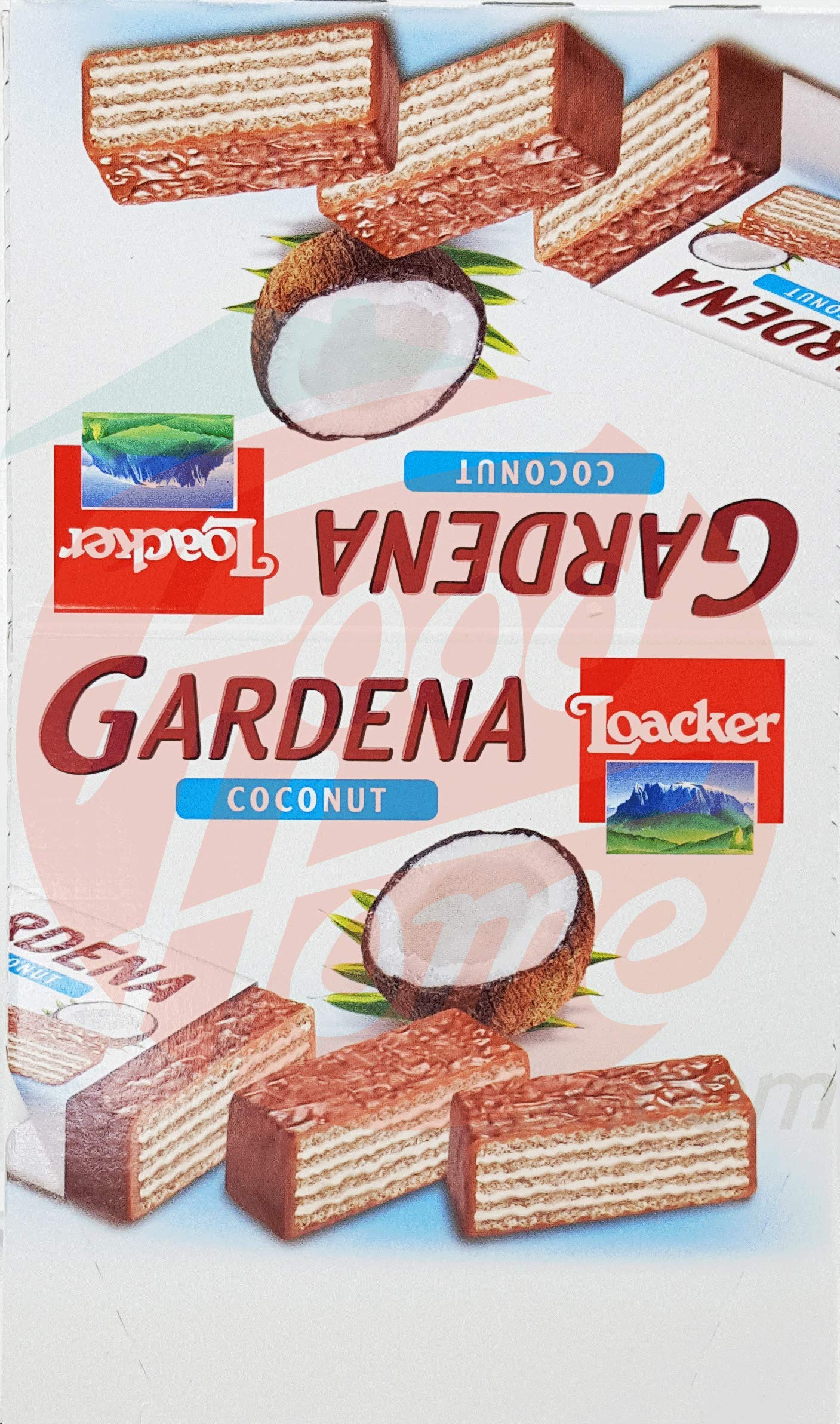 Loacker Gardena Coconut milk chocolate coated wafers with cream filling, 38-gram in wrapper (Case of 25x38-g)
