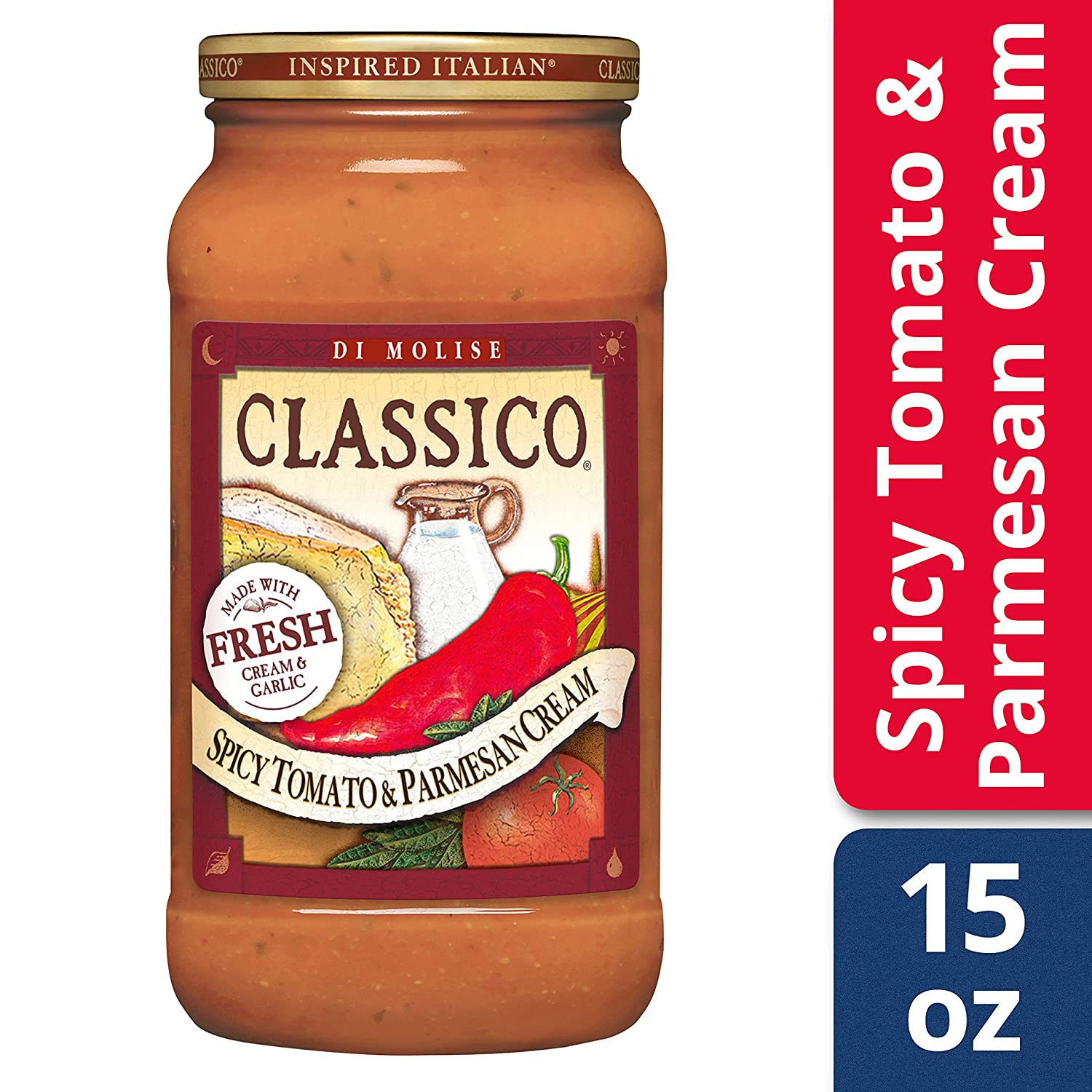 Amazon.com : Classico Spicy Tomato and Parmesan Cream Sauce, 15 oz : Grocery & Gourmet Food