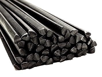 Alambre de soldadura de plástico PP 6mm Triangulares Negro 25 barra: Amazon.es: Coche y moto