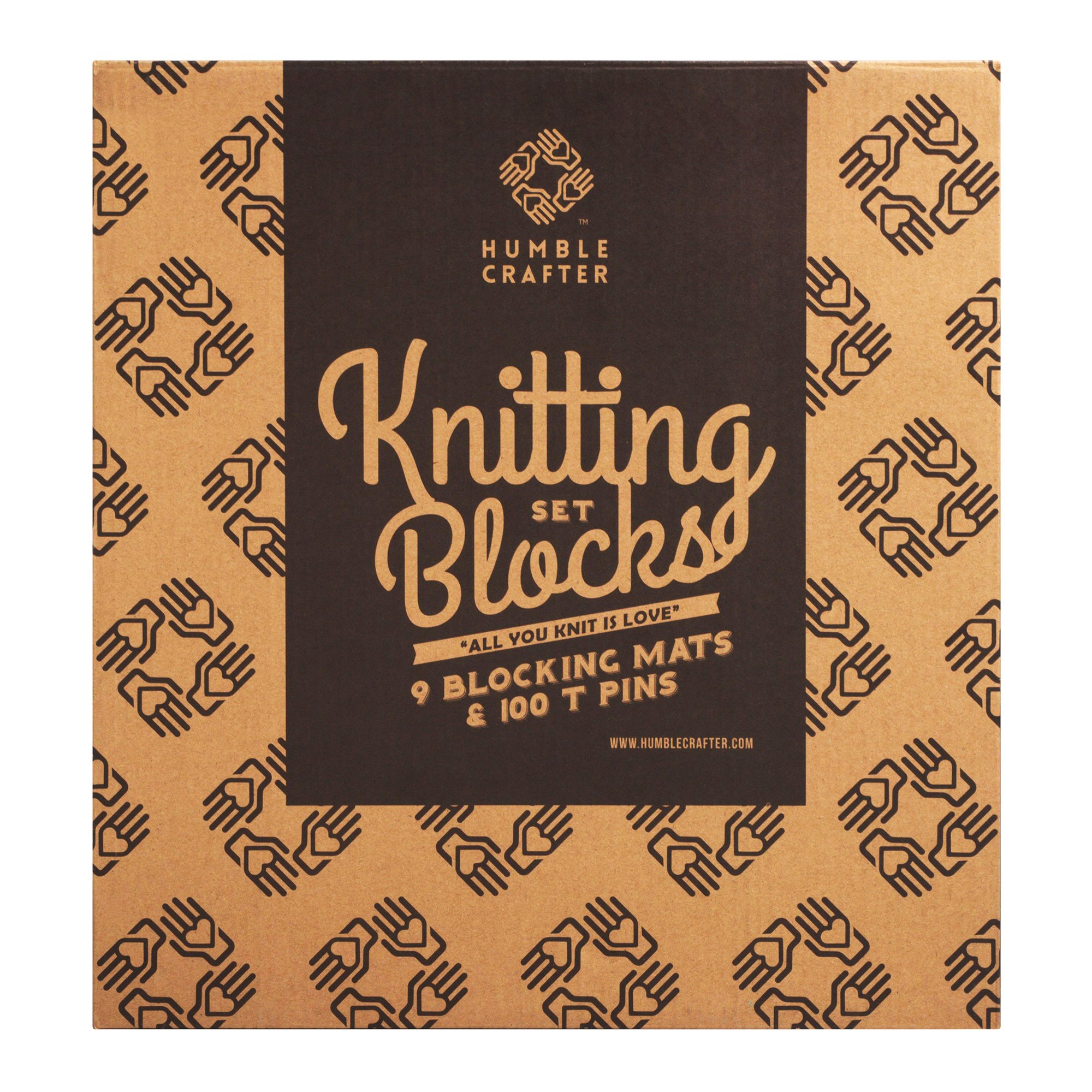 Blocking Mats for Knitting | Extra Thick - with Grids Guaranteed to Align - Includes 100 Stainless Steel T-Pins and 60-Inch Measure Tape... by Humble Crafter (Image #8)