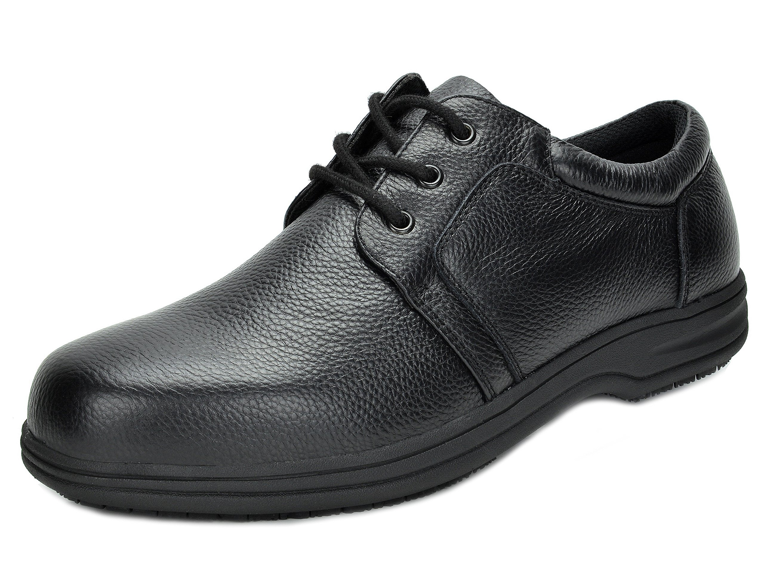 DREAM PAIRS Men's UNO-2 Black Genuine Leather Restaurant Oxfords Work Shoes - 13 M US