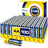 ALLMAX AA Maximum Power Alkaline Batteries (100 Count Bulk Pack) – Double A Ultra Long-Lasting Battery – Store up to 10 Years, Leak-Proof, Device Compatible – Powered by EnergyCircle Technology (1.5V)