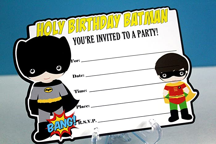 Amazon Com Superhero Batboy Fill In The Blank Birthday Party