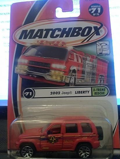Amazon Com Matchbox 2002 Jeep Liberty X Treme Rescue 71 75 2001