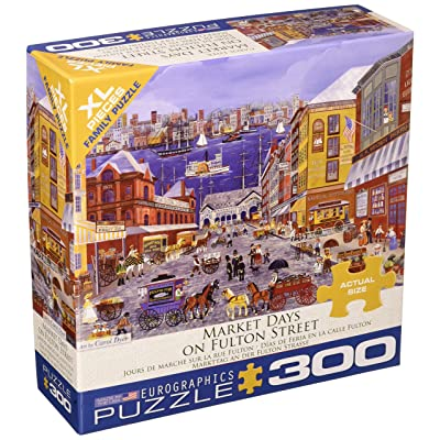 EuroGraphics (EURHR Market Days On Fulton Street 300Piece Puzzle 300Piece Jigsaw Puzzle: Toys & Games