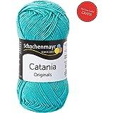 Catania Sommerwolle Schachenmayr - Schachenmayr Wolle aus hochwertiger Baumwolle für farbenfrohe Designs! Catania Original in jade Fb 253 (türkis, grün, hellblau), 100% Baumwolle, kühlende Trageeigenschaft, Wolle Catania Schachenmayr, Baumwollgarn