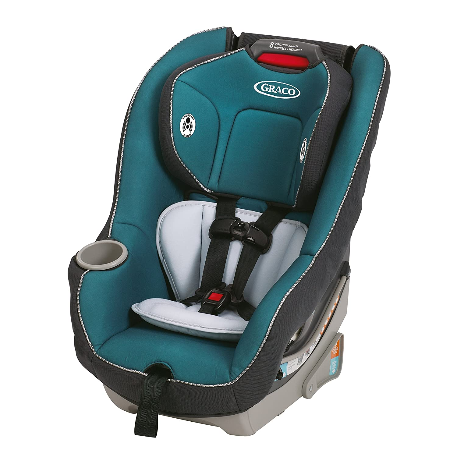 Amazon.com : Graco Contender 65 Convertible Car Seat, Sapphire, One ...