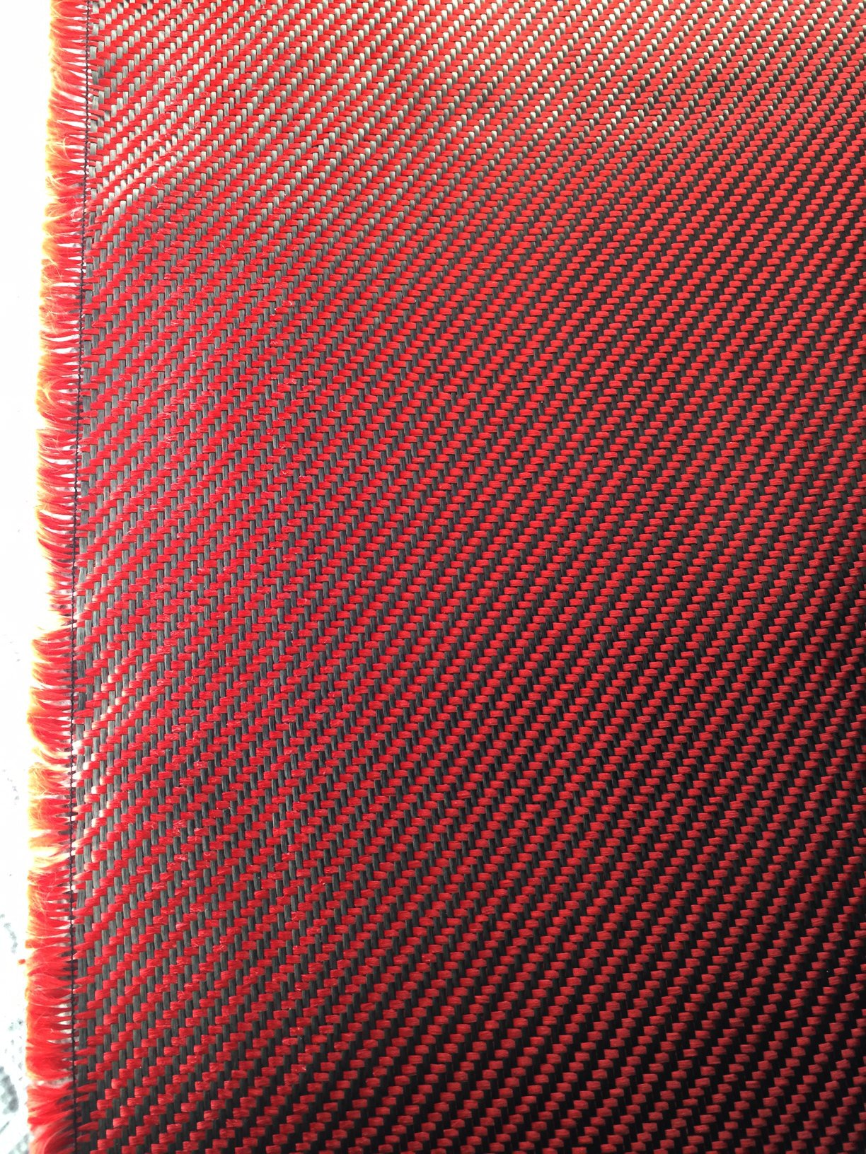 3K Full carbon fiber fabrics cloth sheet 200g/m2 twill weave 1 meter width-39.5'' x 39.5'' (red)