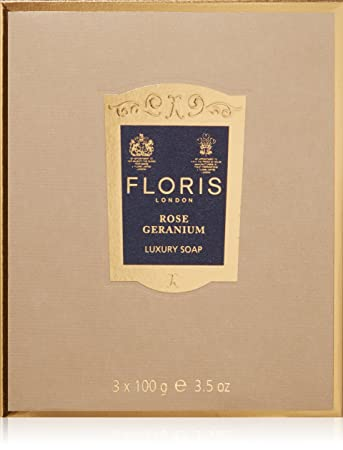 Floris London Rose Geranium Luxury Soap, 3.4 oz