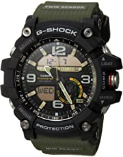 G-Shock Men's Quartz Watch with Stainless-Steel Strap, Green, 27 (Model: GG-1000-1A3CR)