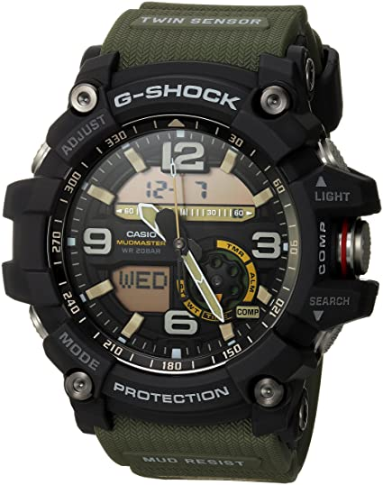87541bb3f1 Casio Men's GG-1000-1A3CR Mudmaster G-SHOCK Quartz Casual Watch, Green