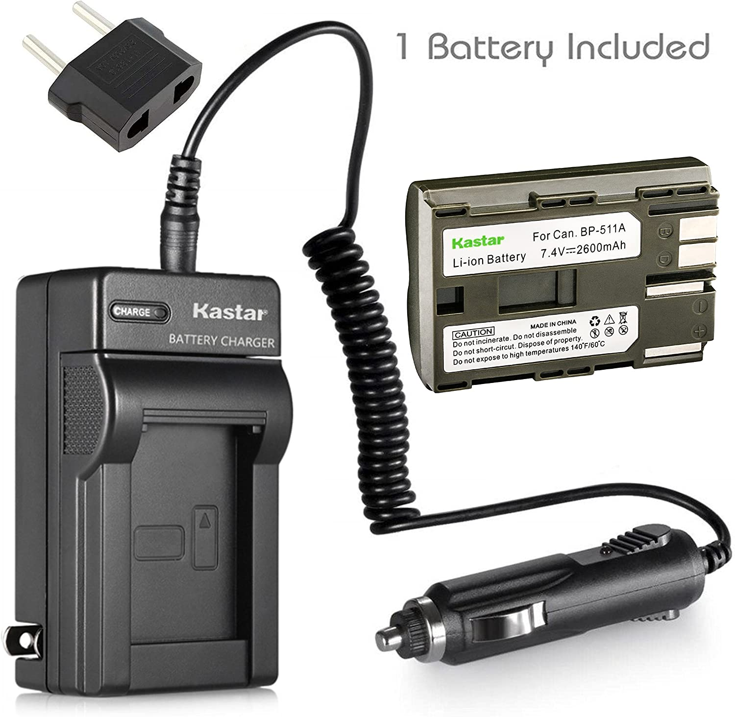 New Battery Charger for Canon BP 511