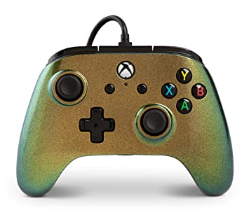 PowerA Enhanced Wired Controller for Xbox One - Minecraft Grass Block