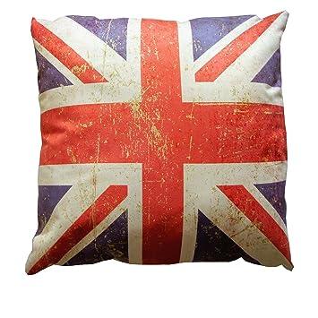 Amazoncom British Flag  Union Jack Pillow Home  Kitchen