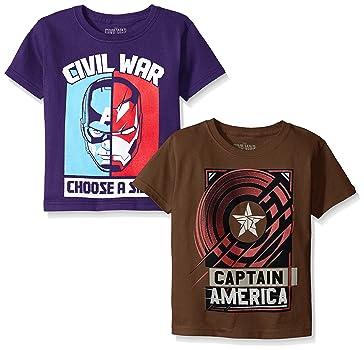 Marvel Boys' 2-Pack Captain America T-Shirts
