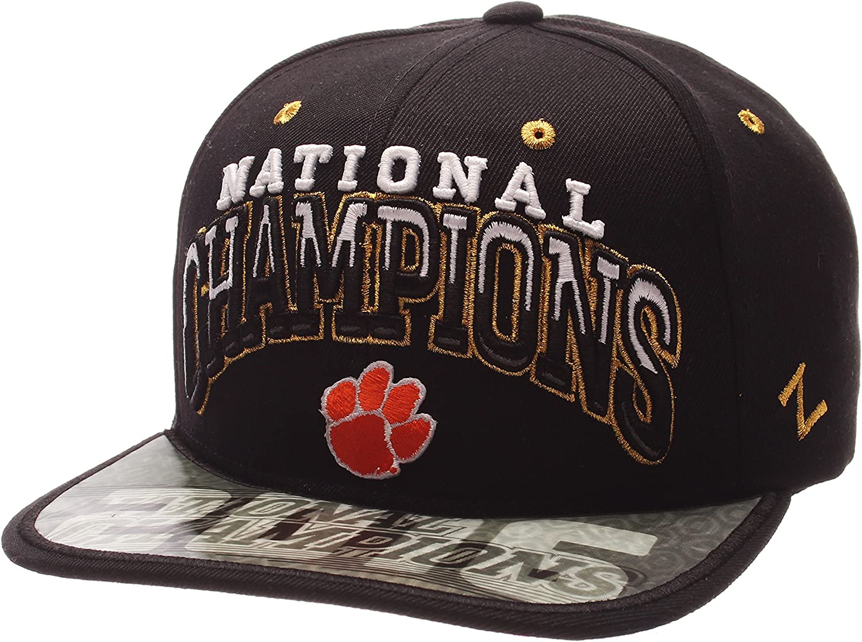 New Era Shop Big Boys Black Baseball Clemson University Adjustable Snapback Hats