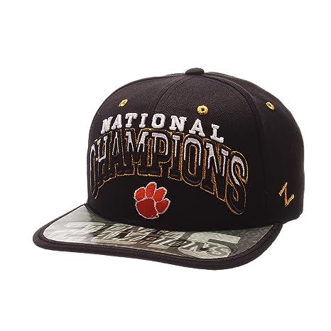 online store 9e802 af723 Image Unavailable. Image not available for. Color  Zephyr NCAA Clemson  Tigers Adult Men National Champions Hologram Snapback ...