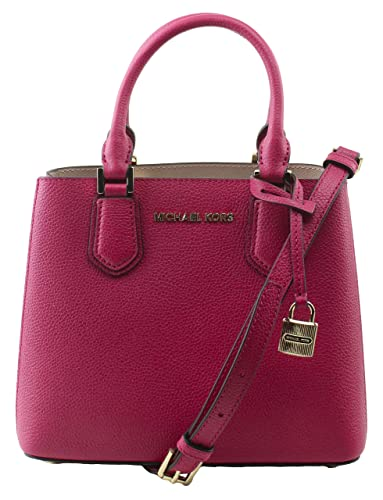04af83c1852cfa Image Unavailable. Image not available for. Color: MICHAEL Michael Kors  Women's Adele Ruben Red Hot Pink Mercer Medium Messenger Bag ...