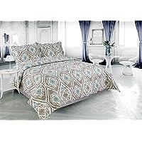Marina Decoration Pinsonic 3 Pieces Reversible Quilt Set with 2 Pillow Shams